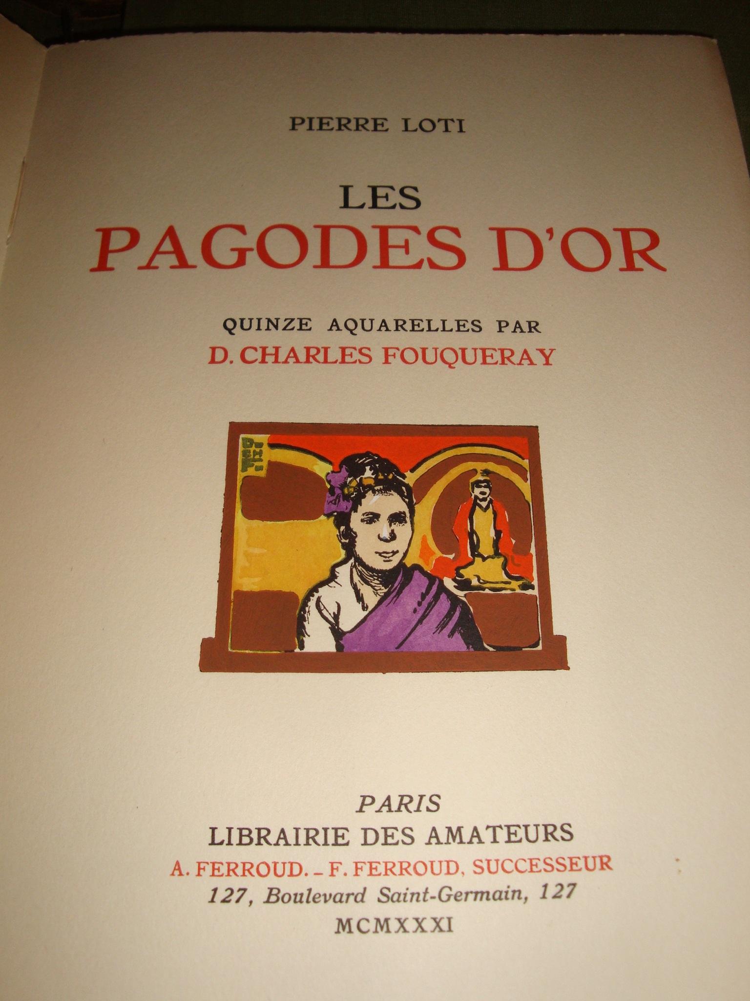 Pierre loti les pagodes d 39 or offert album art for Art contemporain livre