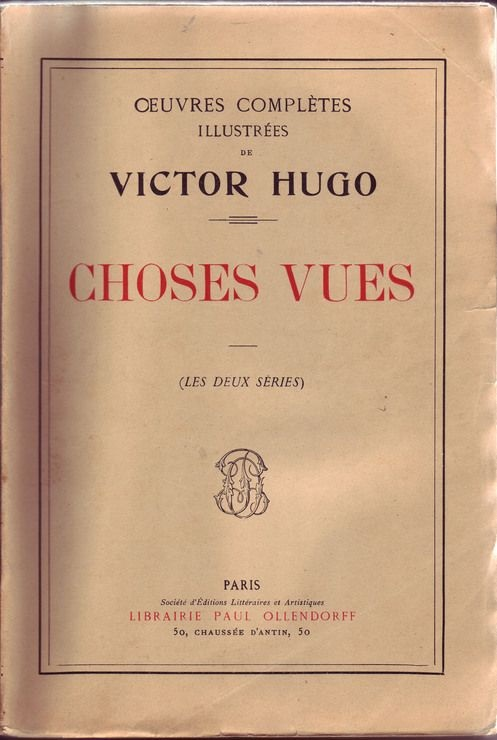 Victor Hugo Oeuvres Completes Livres Anciens Neufs