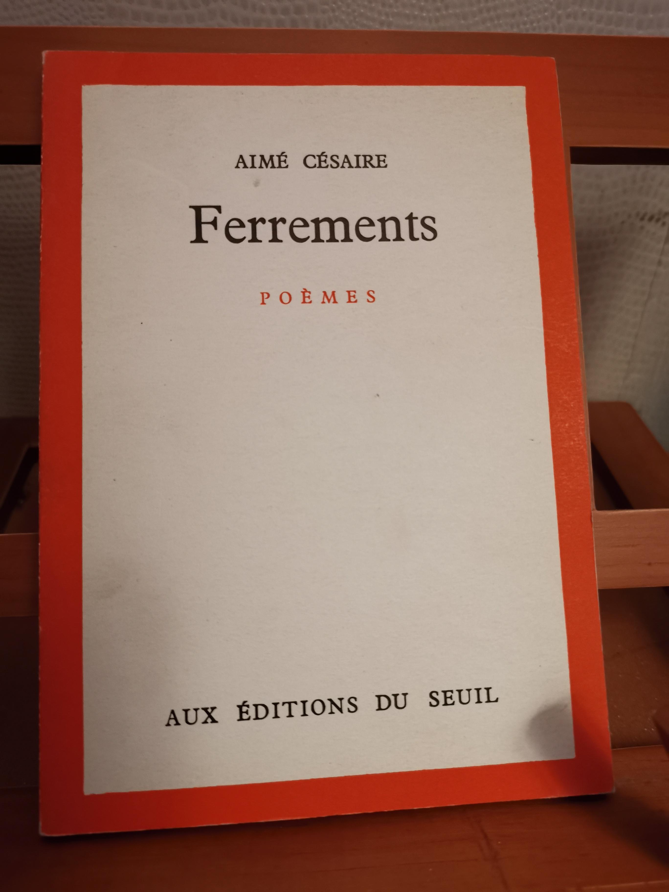 Détails Sur Ferrements Poèmes Cesaire Aimé 1960 Eo